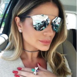 Dior Blue Reflected Prism Sunglasses